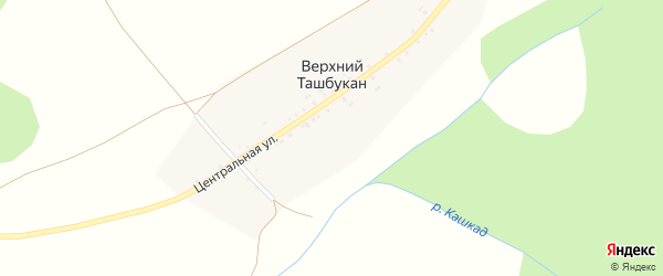 Улица Кашкат на карте деревни Верхнего Ташбукана с номерами домов