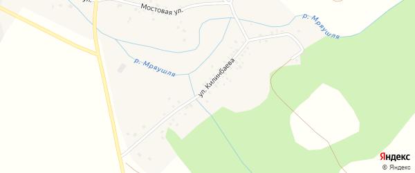 Улица Нурдавлета Килинбаева на карте деревни Альмясово с номерами домов