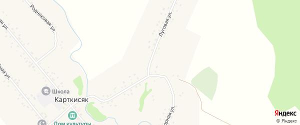 Луговая улица на карте деревни Карткисяка с номерами домов