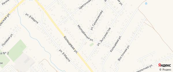 Молодежная улица на карте села Аскино с номерами домов