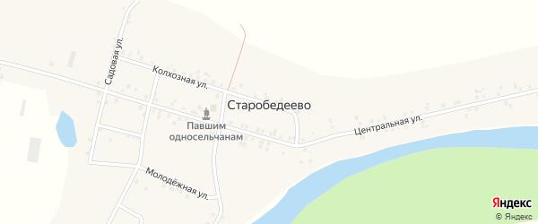 Молодежная улица на карте деревни Старобедеево с номерами домов