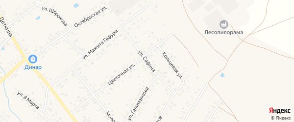 Улица Сафина на карте села Аскино с номерами домов