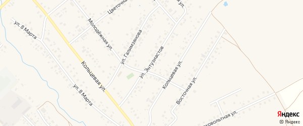 Улица Энтузиастов на карте села Аскино с номерами домов