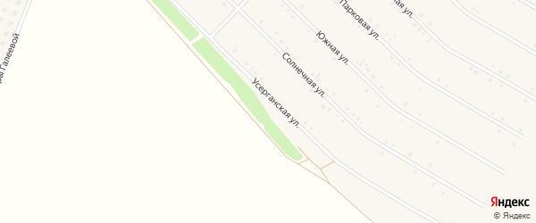 Усерганская улица на карте села Исянгулово с номерами домов