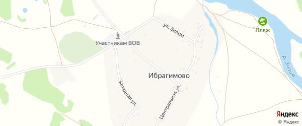 Улица Шакира Насырова на карте деревни Ибрагимово с номерами домов
