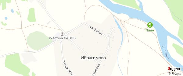 Партизанская улица на карте деревни Ибрагимово с номерами домов