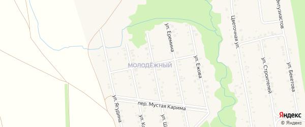 Салтыковой переулок на карте села Мраково с номерами домов