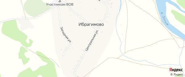 Центральная улица на карте деревни Ибрагимово с номерами домов