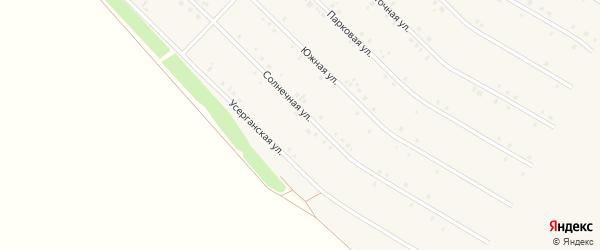 Солнечная улица на карте села Исянгулово с номерами домов