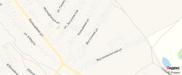 Восточная улица на карте села Аскино с номерами домов