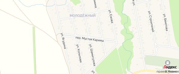 Переулок М.Карима на карте села Мраково с номерами домов