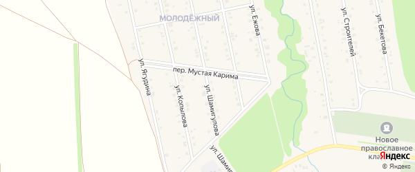 Улица Шамигулова на карте села Мраково с номерами домов