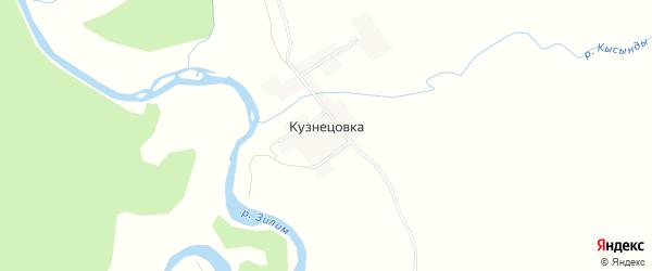Карта деревни Кузнецовки в Башкортостане с улицами и номерами домов