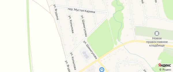 Х.Давлетшиной переулок на карте села Мраково с номерами домов