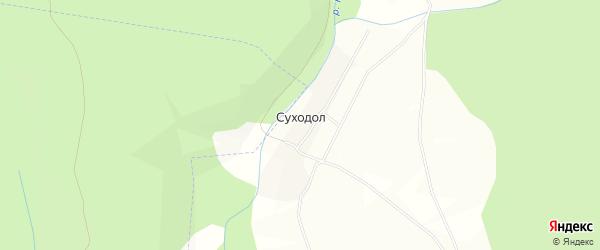 Карта деревни Суходола в Башкортостане с улицами и номерами домов