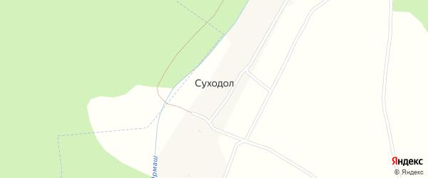 Луговая улица на карте деревни Суходола с номерами домов