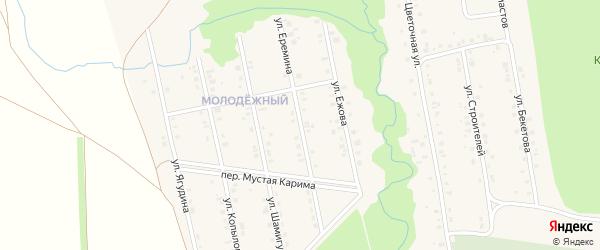 Улица Еремина на карте села Мраково с номерами домов