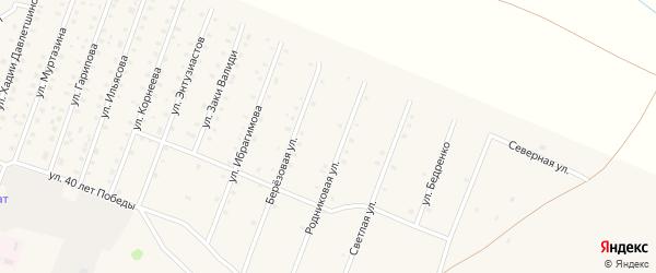 Родниковая улица на карте села Исянгулово с номерами домов