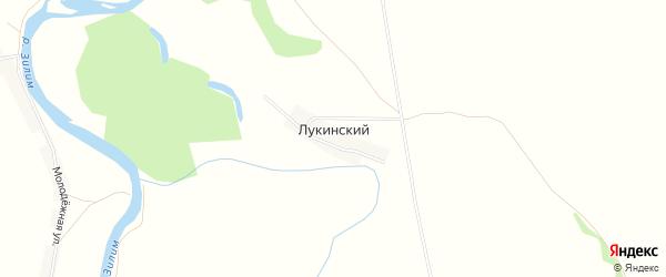 Карта деревни Лукинского в Башкортостане с улицами и номерами домов