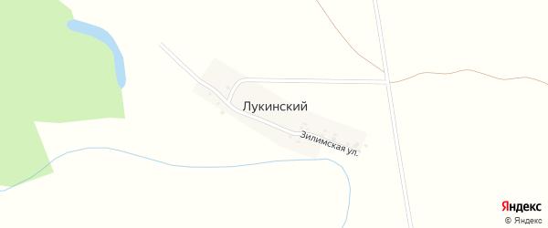 Овражная улица на карте деревни Лукинского с номерами домов