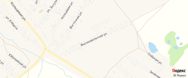 Высоковольтная улица на карте села Аскино с номерами домов