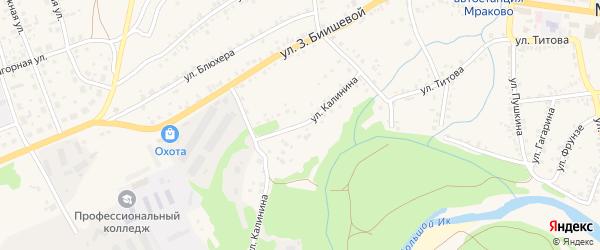 Улица Калинина на карте села Мраково с номерами домов