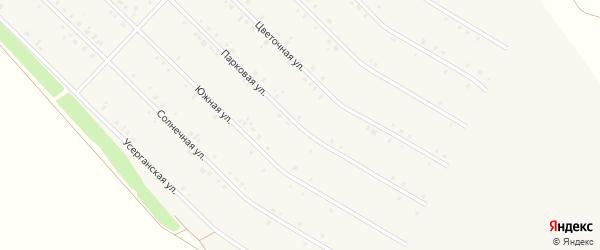 Парковая улица на карте села Исянгулово с номерами домов