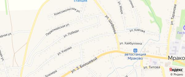 Улица Кирова на карте села Мраково с номерами домов