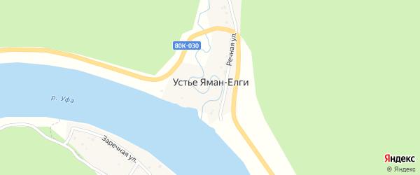 Садовая улица на карте деревни Устья Яман-Елги с номерами домов