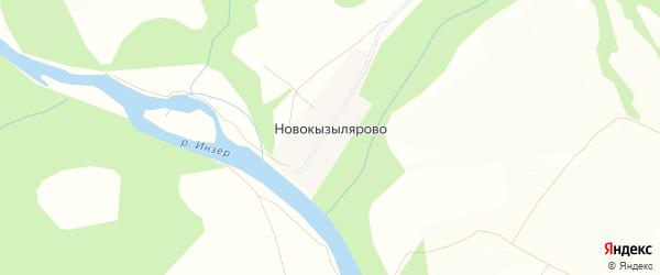 Карта деревни Новокызылярово в Башкортостане с улицами и номерами домов