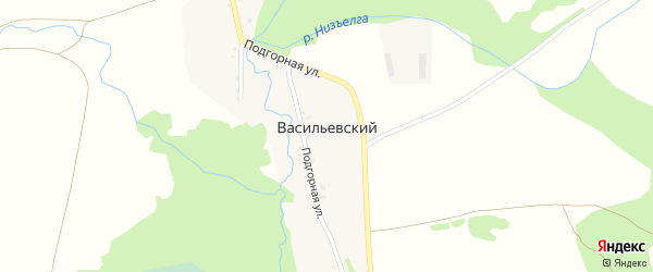 Улица Памяти на карте Васильевского хутора с номерами домов