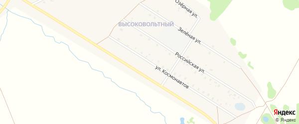 Улица Космонавтов на карте села Аскино с номерами домов