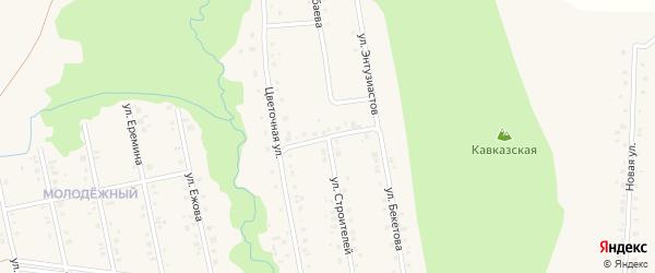 Улица Энтузиастов на карте села Мраково с номерами домов
