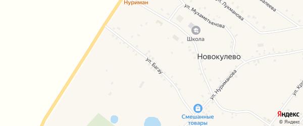 Улица Багау на карте села Новокулево с номерами домов
