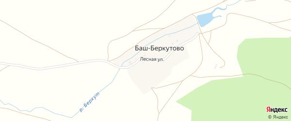 Лесная улица на карте деревни Баш-Беркутово с номерами домов