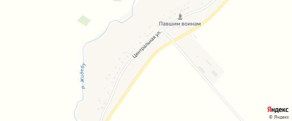 Центральная улица на карте хутора Семиречья с номерами домов