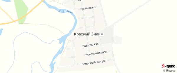 Карта села Красного Зилима в Башкортостане с улицами и номерами домов