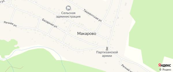 Береговая улица на карте села Макарово с номерами домов