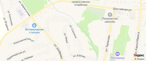 Улица Смолина на карте села Мраково с номерами домов