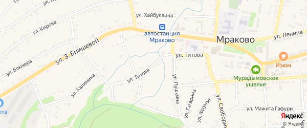 Улица Титова на карте села Мраково с номерами домов