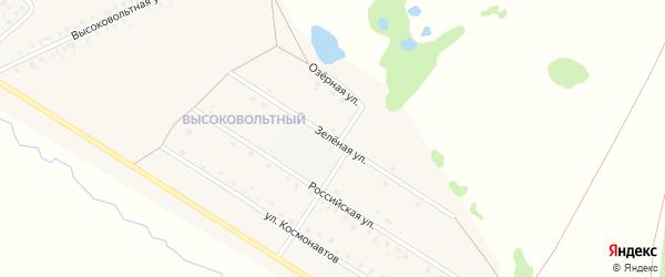 Зеленая улица на карте села Аскино с номерами домов