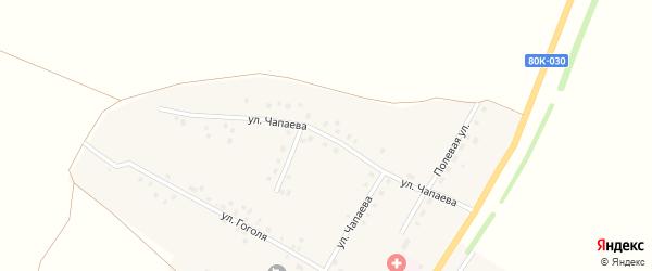 Улица Чапаева на карте села Новокулево с номерами домов