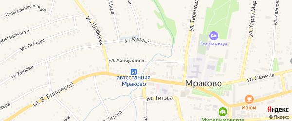 Улица Хайбуллина на карте села Мраково с номерами домов