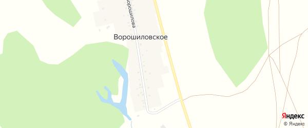 Улица Ворошилова на карте деревни Ворошиловского с номерами домов