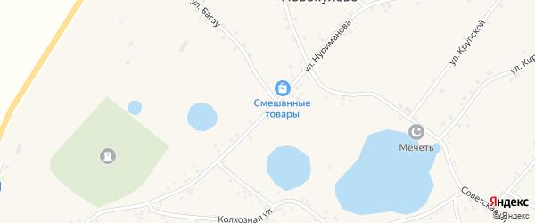 Улица Нуриманова на карте села Новокулево с номерами домов