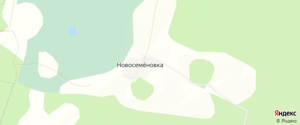 Карта деревни Новосеменовки в Башкортостане с улицами и номерами домов