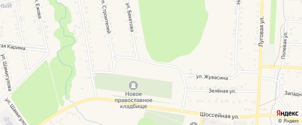 Улица Бекетова на карте села Мраково с номерами домов