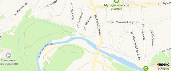 Улица Свободина на карте села Мраково с номерами домов
