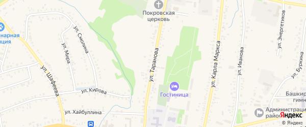 Улица Таранова на карте села Мраково с номерами домов