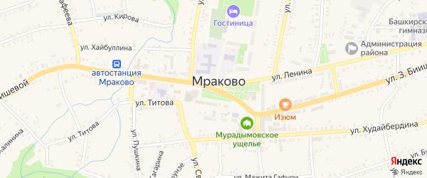 Улица З.Биишевой на карте села Мраково с номерами домов